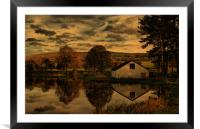 Sunset At The Fishing Lodge, Framed Mounted Print