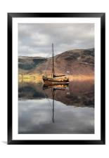 Sailing Boat On Loch Leven, Framed Mounted Print