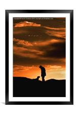 One Man And His Dog (Portrait), Framed Mounted Print