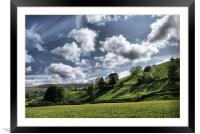 Dalescape ~ Swaledale, The Dales, Framed Mounted Print