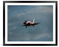 Red Eight coming in, Framed Mounted Print