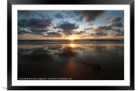 Sunset and Seaweed, Framed Mounted Print