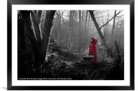 Little Red Riding Hood, Framed Mounted Print