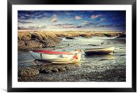 Morston Quay., Framed Mounted Print