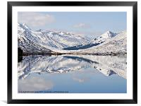 Winter Reflections, Framed Mounted Print