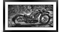 New Hudson Motor Cycle, Framed Mounted Print