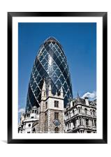 The Gherkin, London, Framed Mounted Print