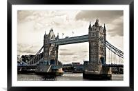 Tower Bridge, London, Framed Mounted Print