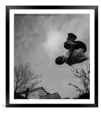 Parkour, Free Running, Framed Mounted Print