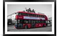 Londons New Routemaster Bus, Framed Mounted Print