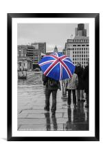 British Weather, Framed Mounted Print