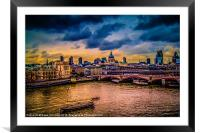 London Cityscape, Framed Mounted Print