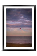 Whitstable Kite Surfing, Framed Mounted Print