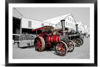 Steam Engines, Chatham Dockyard, Framed Mounted Print