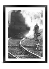 The Worker, Framed Mounted Print