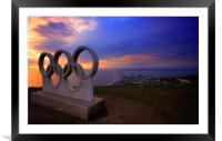 Portland Olympic Sunset, Framed Mounted Print
