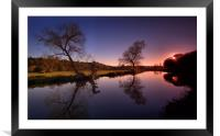 Sunset On The Wey, Framed Mounted Print