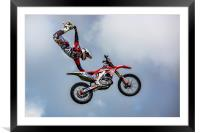 Stunt rider, Framed Mounted Print