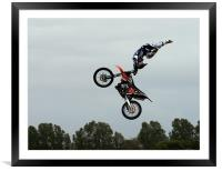 Motorcycle Stunts, Framed Mounted Print