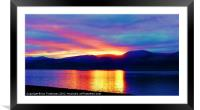Reflections on the Strait, Framed Mounted Print