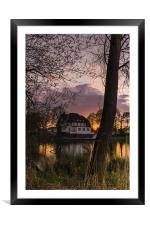 Evening in Spring at the Lake 2013 II, Framed Mounted Print