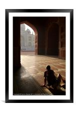 Tourist Photographing Taj Mahal, Agra, India, Framed Mounted Print