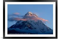 Mountains at Sunrise Poon Hill, Framed Mounted Print