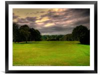 """Its A """"Fairway"""" On A Stormy Day!, Framed Mounted Print"""