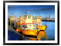 Fun Time Ferries, Framed Mounted Print