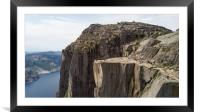 Preikestolen - Pulpit Rock, Framed Mounted Print