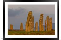 Sunset at the Ring of Brodgar, Framed Mounted Print