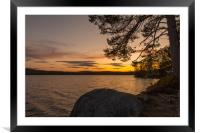 Swedish sunset, Framed Mounted Print