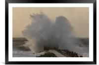 North sea storm, Framed Mounted Print