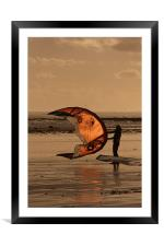 Flying High at the Beach, Framed Mounted Print