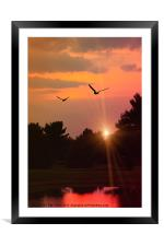 TWILIGHT TIME, Framed Mounted Print