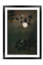 TOUCHED BY THE MOON, Framed Mounted Print