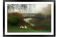 A FOGGY MORNING, Framed Mounted Print