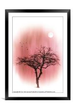 A TREE IN PINK, Framed Mounted Print