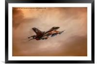 Off To War, Framed Mounted Print
