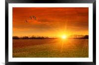 WHEN THE DAY IS DONE, Framed Mounted Print