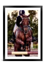 Show Jumping, Framed Mounted Print