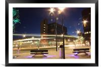 Sheffield city centre roundabout, Framed Mounted Print