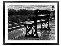 Great Wet Railway, Framed Mounted Print
