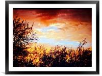 Sunset, Framed Mounted Print