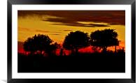 Night fall on the Ranch, Framed Mounted Print