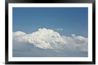 Face In The Cloud, Framed Mounted Print