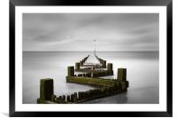 Hunstanton Groyne Norfolk, Framed Mounted Print