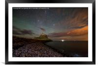 Lindisfarne Midnight Castle, Framed Mounted Print