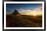 In the Warm morning light - Lindisfarne Castle, N, Framed Mounted Print