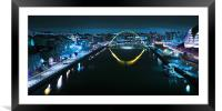 The Millennium Bridge and Quayside - Newcastle, Framed Mounted Print